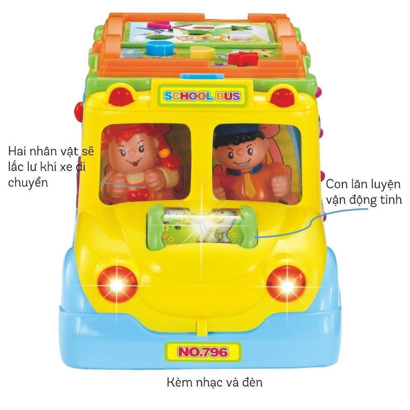 Đồ chơi Peek A Boo xe buýt xe bus chăm học có nhạc và đèn