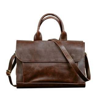 ETONWEAG Briefcases Men Messenger Bags Brown Laptop Bag