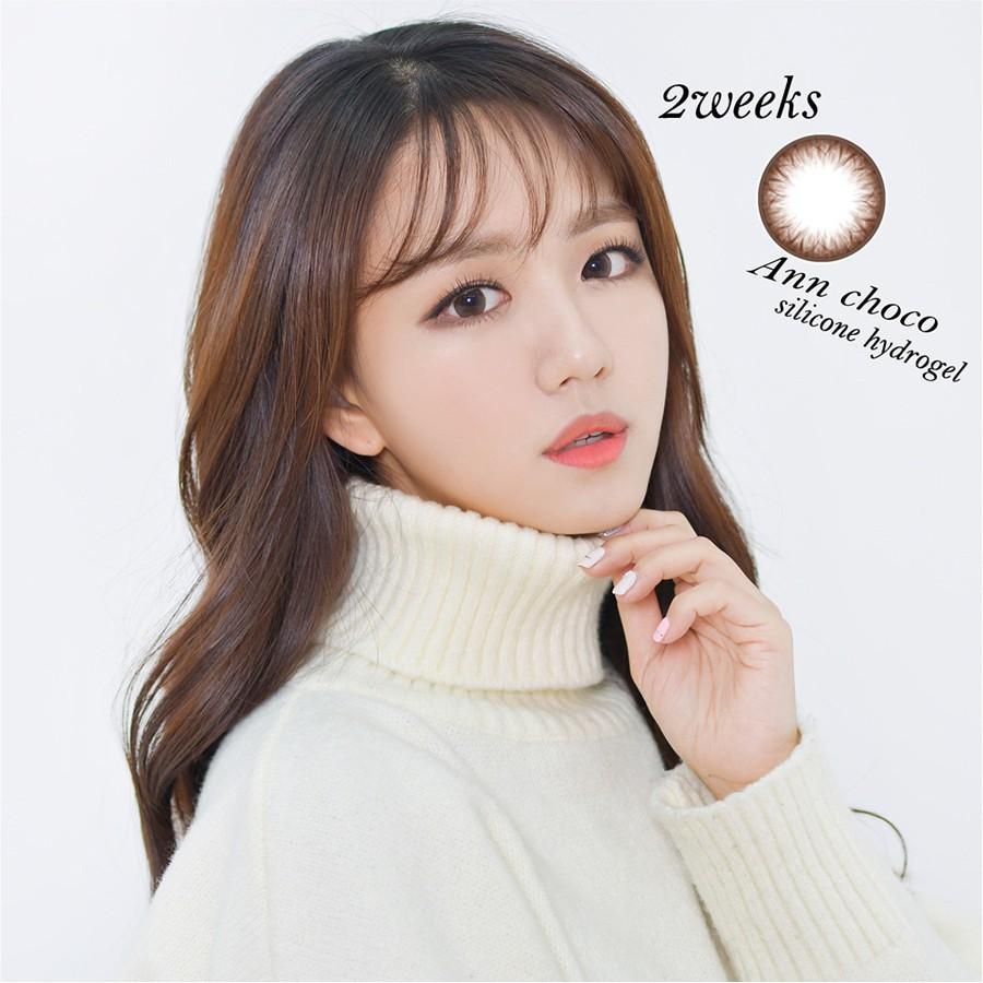 [Siêu ưu Đãi] Lens Hàn sử dụng 14 ngày – Kính áp tròng 2 tuần màu Choco (1 Cặp)