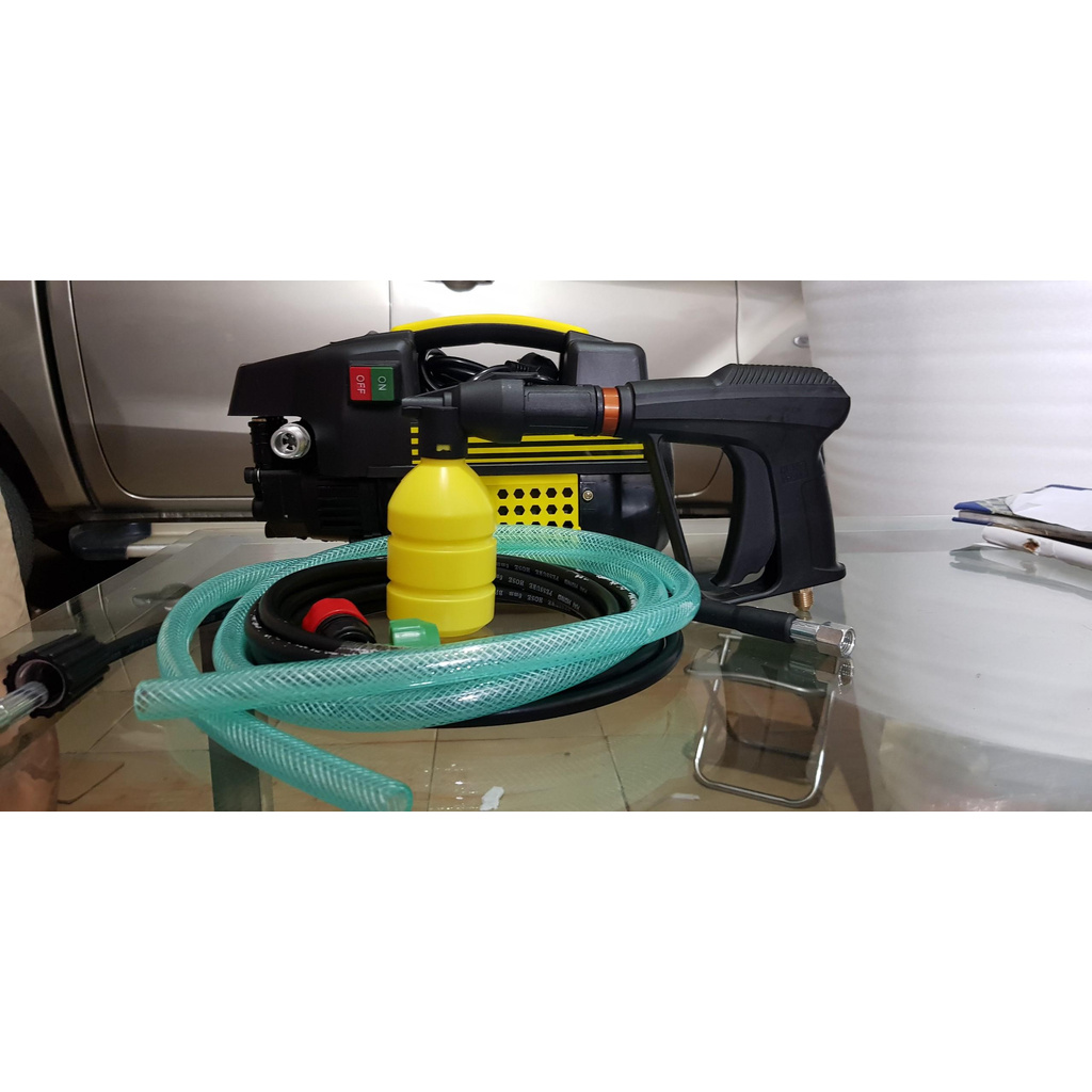 Máy rửa xe mini gia đình áp lực cao - Lõi đồng 100% - Tặng Bình Xà Phòng , Máy  rửa xe chất lượng