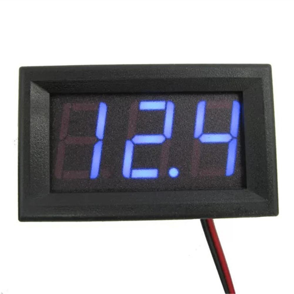 [OTICLE] 1Pc Two-wire 0.56 inch DC 4.5V to 30V Digital Display Voltmeter Voltage Panel Meter Tester