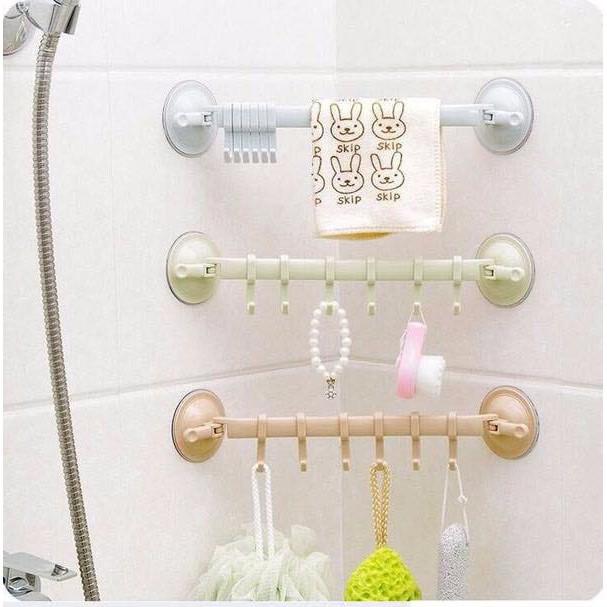 ⛔FREESHIP⛔  Móc nhựa cong treo đồ nhà tắm hút chân không