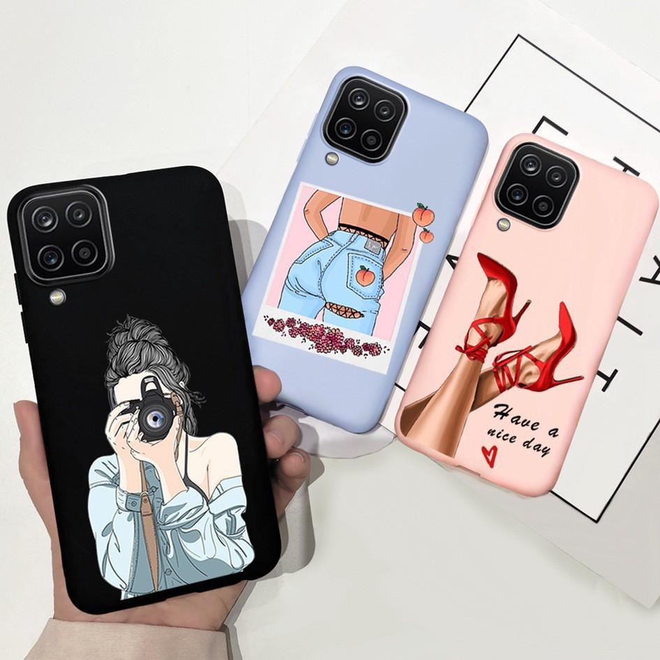 Ốp điện thoại chống sốc hoạ tiết hoạt hình cho Samsung Galaxy A12 A42 5g A 12 A 42 Sm-A42B