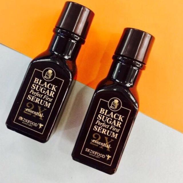Tinh chất Dưỡng Đường Đen SKINFOOD BLACK SUGAR PERFECT FIRST SERUM 2X - 3Oml