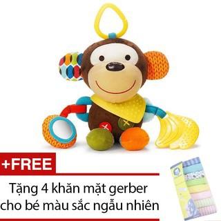 Đồ chơi treo cũi và vận động Konig Kids Tặng 4 khăn mặt gerber