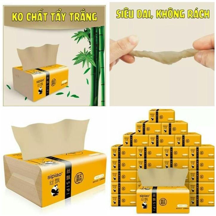 Thùng giấy ăn gấu trúc Sipiao 30 gói