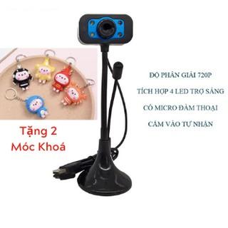 Webcam VCAM độ phân giải 720p có micro phone - 4 đèn led trợ sáng (nhiều màu)- Hình Ảnh Đẹp Rõ Nét thumbnail