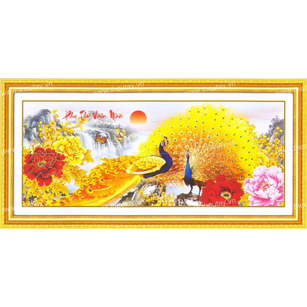 Tranh thêu chữ thập chưa thêu + kết chỉ hoa rubăng, hạt đá pha lê, bướm nhựa Phu Thê Viên Mãn-Khổng - 3205706 , 1222129474 , 322_1222129474 , 137000 , Tranh-theu-chu-thap-chua-theu-ket-chi-hoa-rubang-hat-da-pha-le-buom-nhua-Phu-The-Vien-Man-Khong-322_1222129474 , shopee.vn , Tranh thêu chữ thập chưa thêu + kết chỉ hoa rubăng, hạt đá pha lê, bướm nhựa Phu