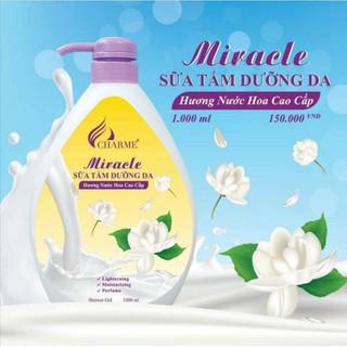 sữa tắm chamer hương nước hoa cao cấp(vàng) 1000ml+ tặng nước hoa.