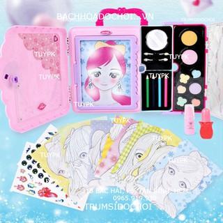 Đồ Chơi make up Xách Tay Hộp Đựng Mỹ Phẩm, Bảng đèn vẽ cho bé gái, Tập Trang Điểm