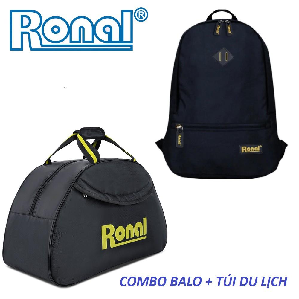 Combo ba lô, túi du lịch Ronal CB04 - Đen vàng