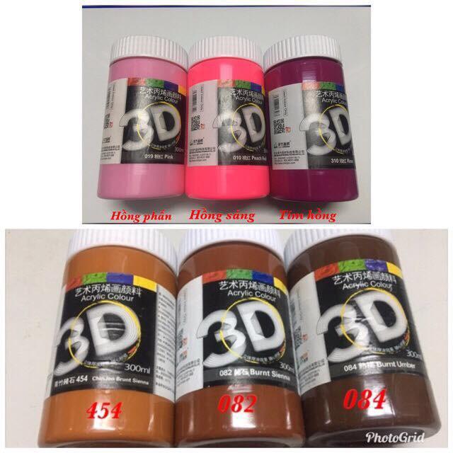 MÀU ACRYLIC 3D LỌ 300ML