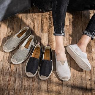 Slip on nam - Giày lười vải nam cao cấp - Vải bố 3 màu đen, xám và trắng ngà - Mã SP 2905 thumbnail