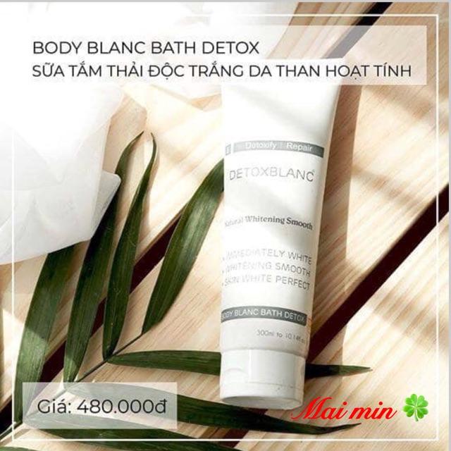 Sữa tắm thải độc trắng da than hoạt tính detox blanc 5
