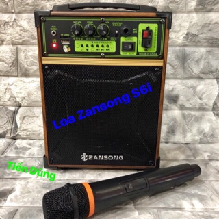 Loa kéo zansong s6i karaoke với Bluetooth tặng 1 mic không dây