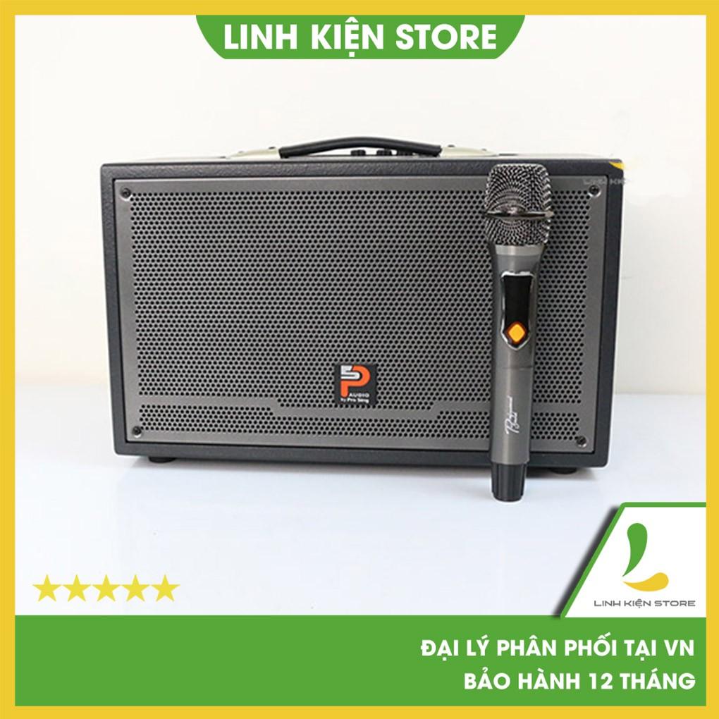 Loa kéo Prosing W-Silver E - Loa Karaoke thùng gỗ cao cấp công suất 100w, kết nối Bluetooth/USB/Thẻ nhớ SD