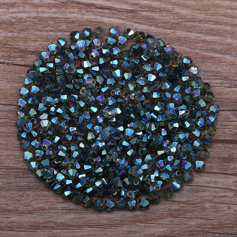 Set 100 hạt pha lê trong suốt 4mm dùng làm trang sức DIY