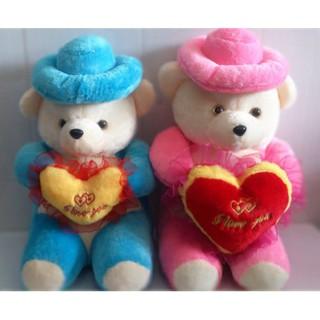 Gấu bông đội nón ôm tim
