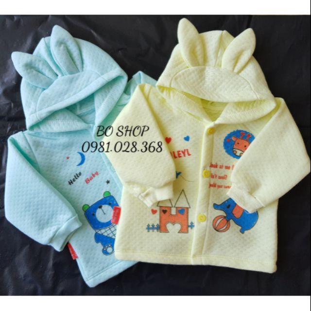 [[⚡️ Sale ⚡️] quần áo sơ sinh cho bé - Áo bông sơ sinh có mũ cho bé trai bé gái ( nhiều màu ) | Tại Hà Nội