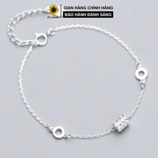 Lắc chân bạc 21 Centimeters Cylinder Trang sức bạc Tiệm bạc 21 Centimeters