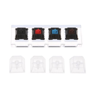 Acrylic Mechanical Keyboards Switch 4 Translucent Clear Keycaps Tester Kit