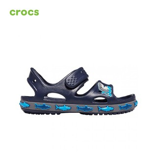 [Mã MABRHV44 hoàn 10% đơn 350k tối đa 100k xu] Giày Sandals Trẻ em Crocs Funlab Shark Band - 206365-410 thumbnail