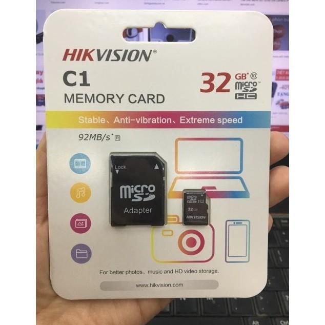 Thẻ nhớ HIKVISION Class 10 SDHC 32GB Chính hãng - Tặng kèm adapter đọc thẻ nhớ cho laptop
