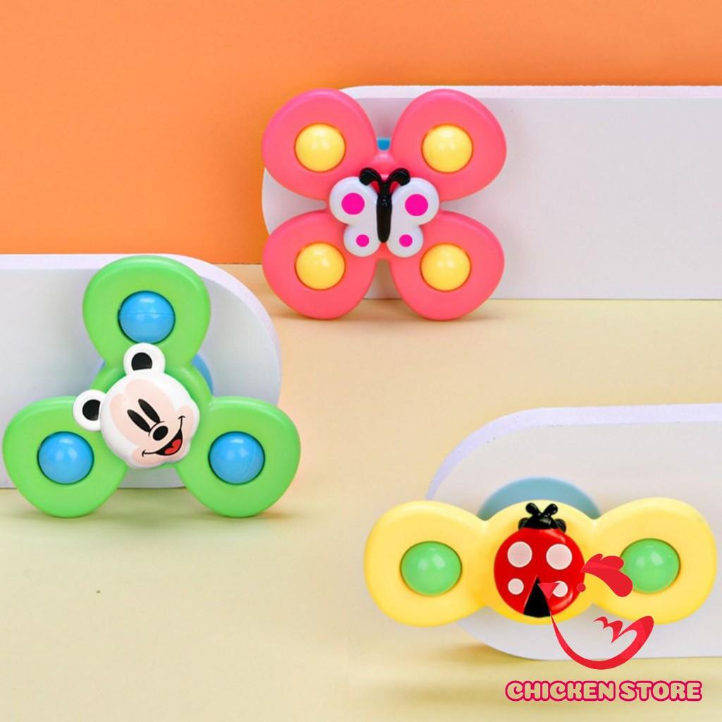 Set 3 đồ chơi con quay spinner chong chóng hình côn trùng vui nhộn cho bé vui chất liệu nhựa ABS