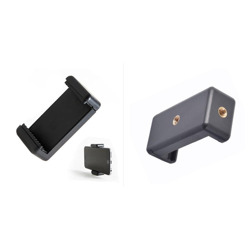 P10 Đế giữ điện thoại loại kẹp điện thoại chắc chắn có 2 ốc để gắn vào tripod