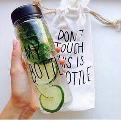 Bình Nước My Bottle  500ml bằng nhựa - bình mybottle kèm túi đựng (GIAO MÀU NGẪU NHIÊN)