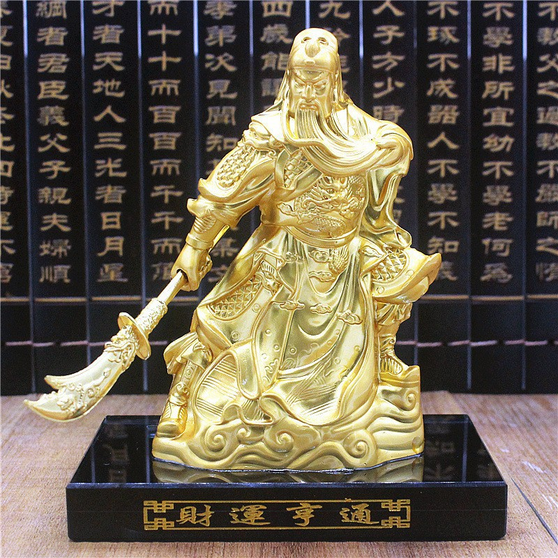 Alloy Guan Gongzuo Big Wars Gods Fortune God Car Car Interi