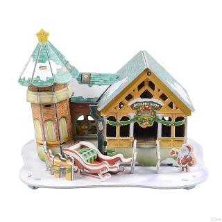 【Goodhome】DIY Puzzle Toys Children's Intelligence Toys 3D Paper Puzzles Christmas Gifts