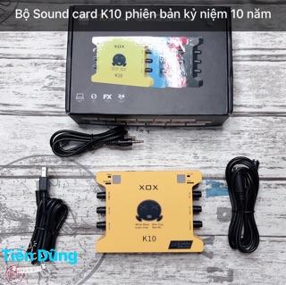 Bộ sound card k10 2020 bản kỷ niệm 10 năm hãng ra dòng xox bản tiếng anh đã kèm dây thumbnail