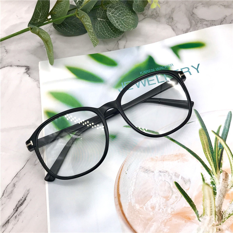 2021 new anti-blue glasses all-match retro anti-radiation trend Korean young students male frames eyeglasses