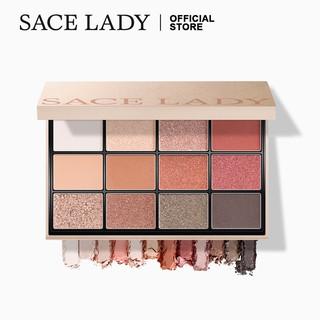 Bảng phấn mắt Sace Lady 12 màu tông ánh nhũ và lì