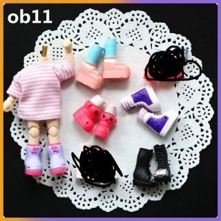 Set giày 5 đôi cho bjd 1/12. Obitsu 11cm