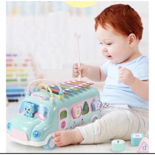 Combo bộ đồ chơi xe buýt thả hình khối cho bé