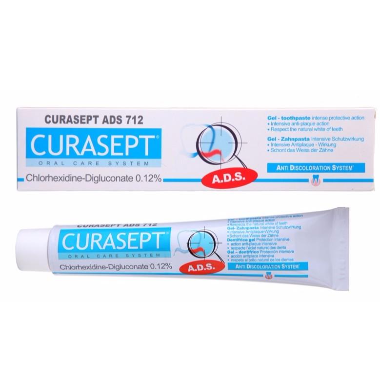 Kem đánh răng kháng khuẩn trị chảy máu răng và ngừa nha chu Curaprox Curasept ADS 712 75ml