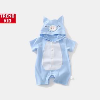 [Mã TREND20 giảm 15% đơn 99K] Body thú cho trẻ sơ sinh hình Heo xanh Michley