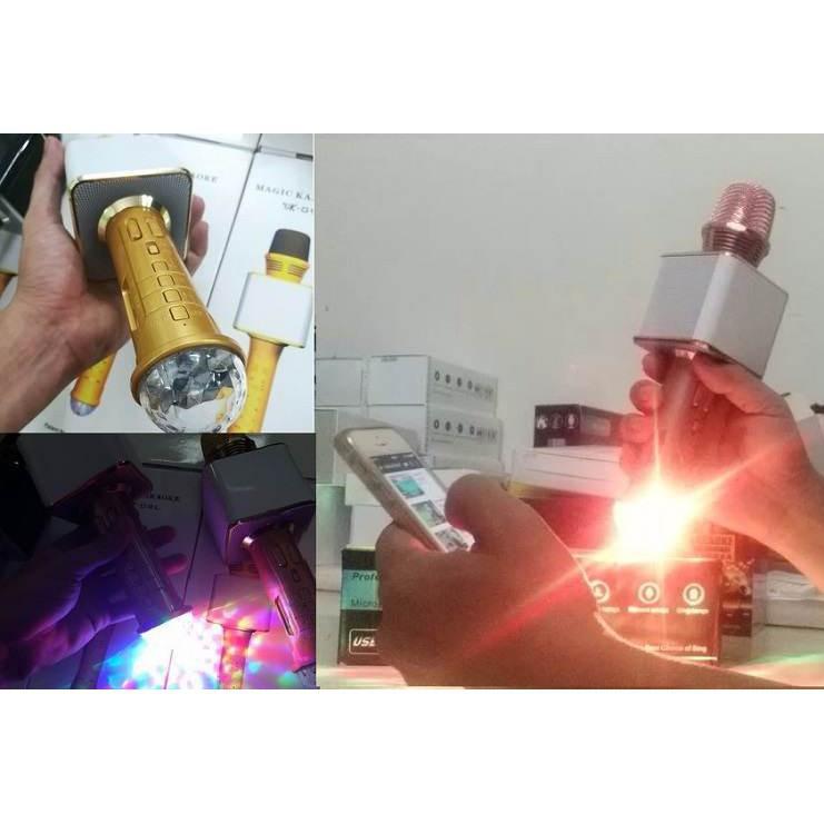 [SS] Micro kèm loa karaoke bluetooth SD09L có đèn