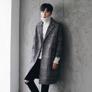 Áo măng tô nam họa tiết kẻ -Mặc là đẹp Thời trang Tman2020