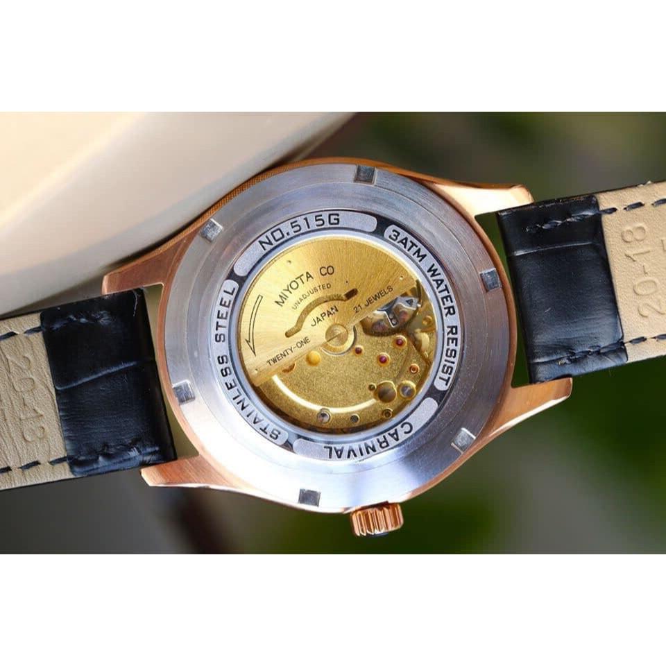 [Tặng kèm dây] Đồng Hồ Carnival Nam Nhật Kê Limited G51501