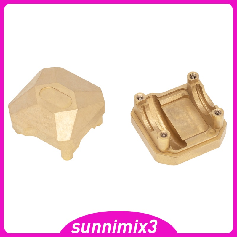 [Kayla Computing Shop] RC Car Brass Axle Diff Cover Heavy Weight For Axial SCX10 II 90046 90047