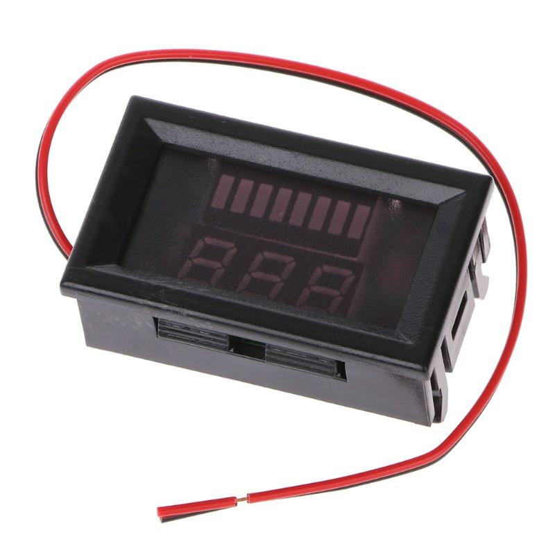 Máy đo dung lượng pin kỹ thuật số DC 12V - 27V DC có đèn LED