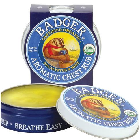 Sáp bôi ấm ngực hữu cơ Badger
