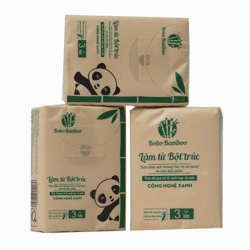 [Mã HC2703 giảm 8% đơn 400K] 7 Gói Khăn Giấy Bỏ Túi Làm Từ Bột Trúc Siêu Dai Bobo Bamboo