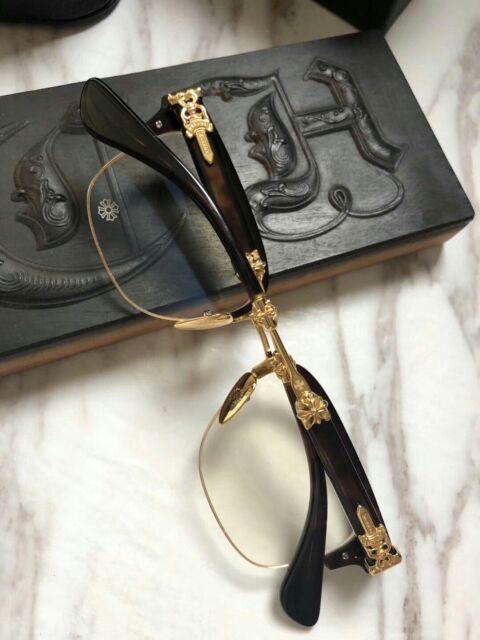 Gọng kính chrome heart frame japan dòng nửa vành mạ vàng chống gỉ cao cấp hàng xuất fullbox phụ kiện