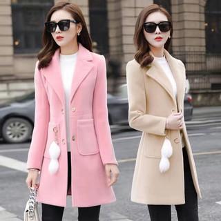(TK001)Áo khoác dạ nữ dáng dài form chuẩn mẫu mới có túi trang trí cực sang chảnh