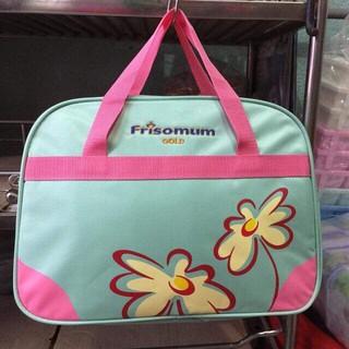 Túi xách Frisomum xanh biển hoa