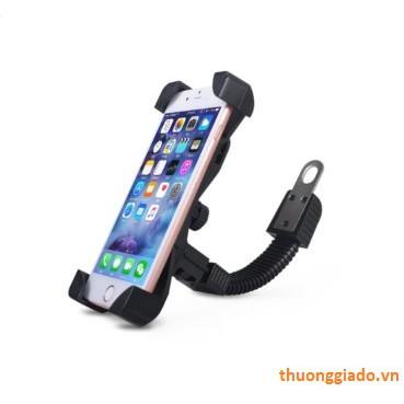 Kẹp giữ điện thoại trên xe máy (gắn vào chân kính chiếu hậu)